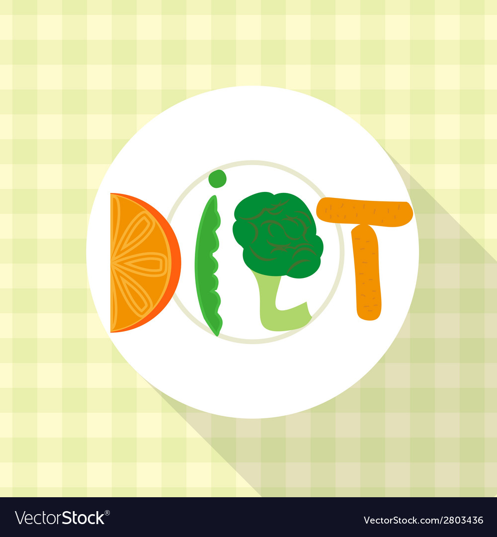 Blue diet plate vector   Price: 1 Credit (USD $1)