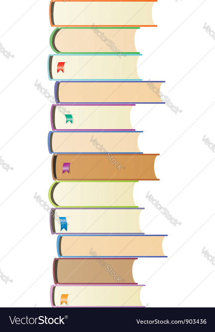 Books with bookmarks vector | Price: 1 Credit (USD $1)