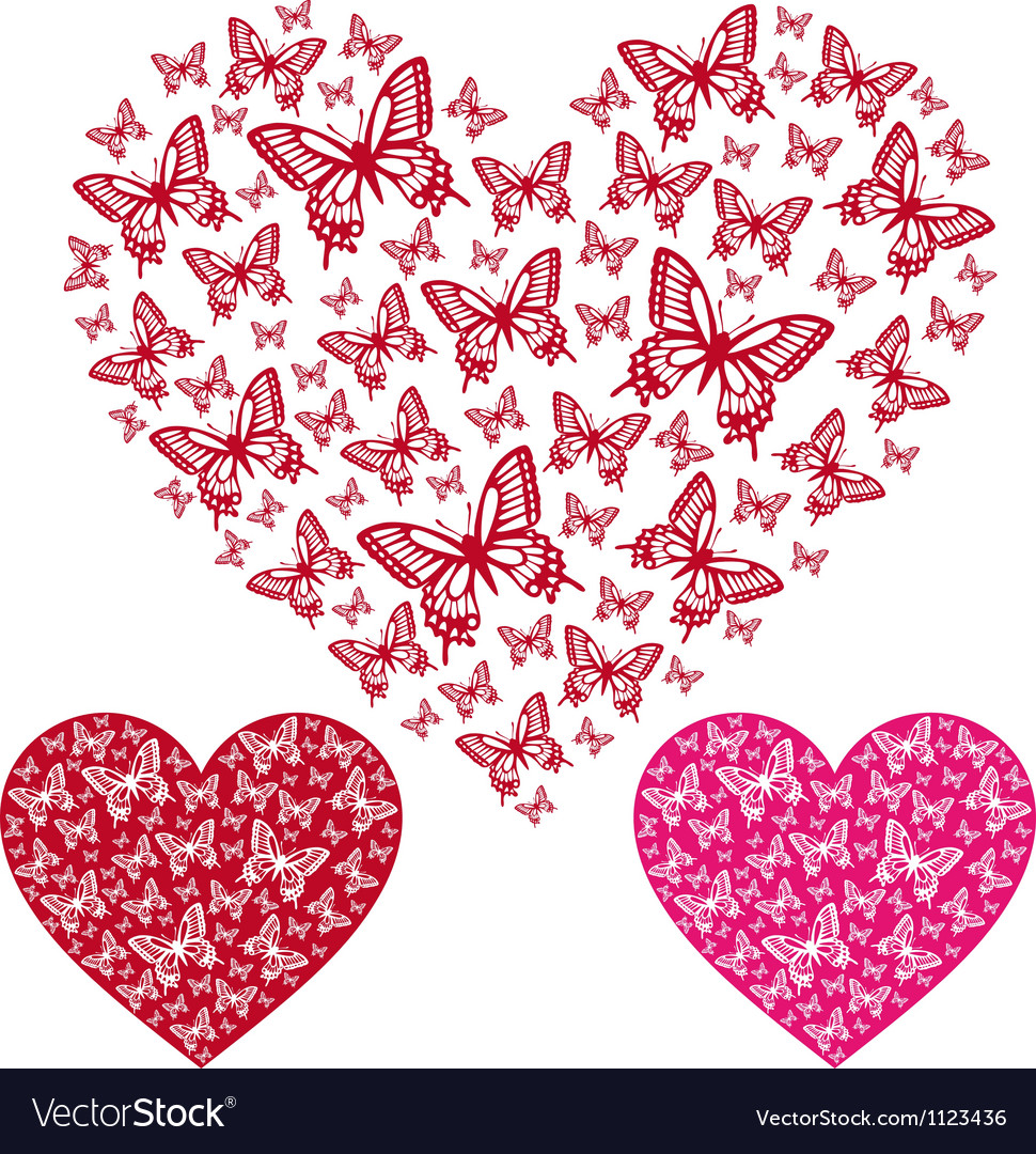 Butterfly heart vector | Price: 1 Credit (USD $1)