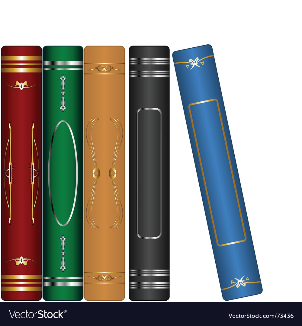Classic books set vector