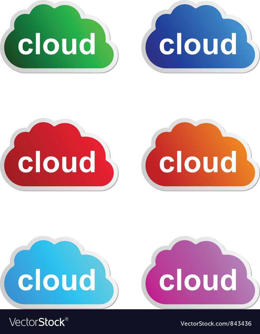 Cloud label vector | Price: 1 Credit (USD $1)