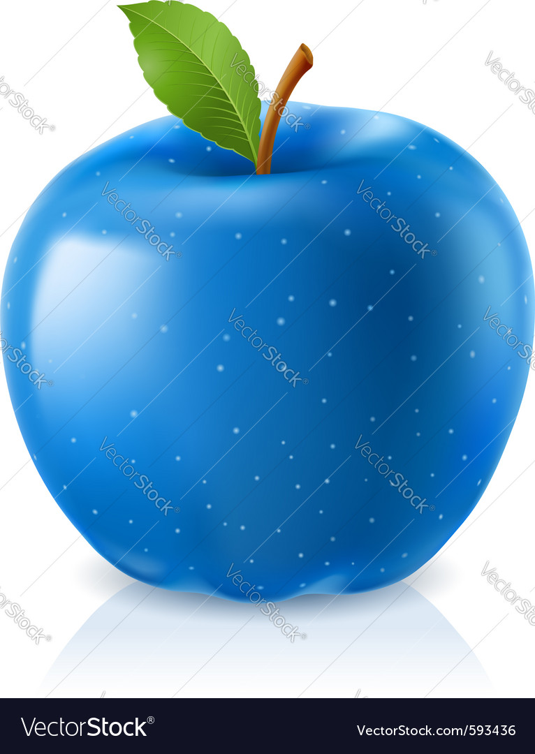 Delicious blue apple vector | Price: 1 Credit (USD $1)