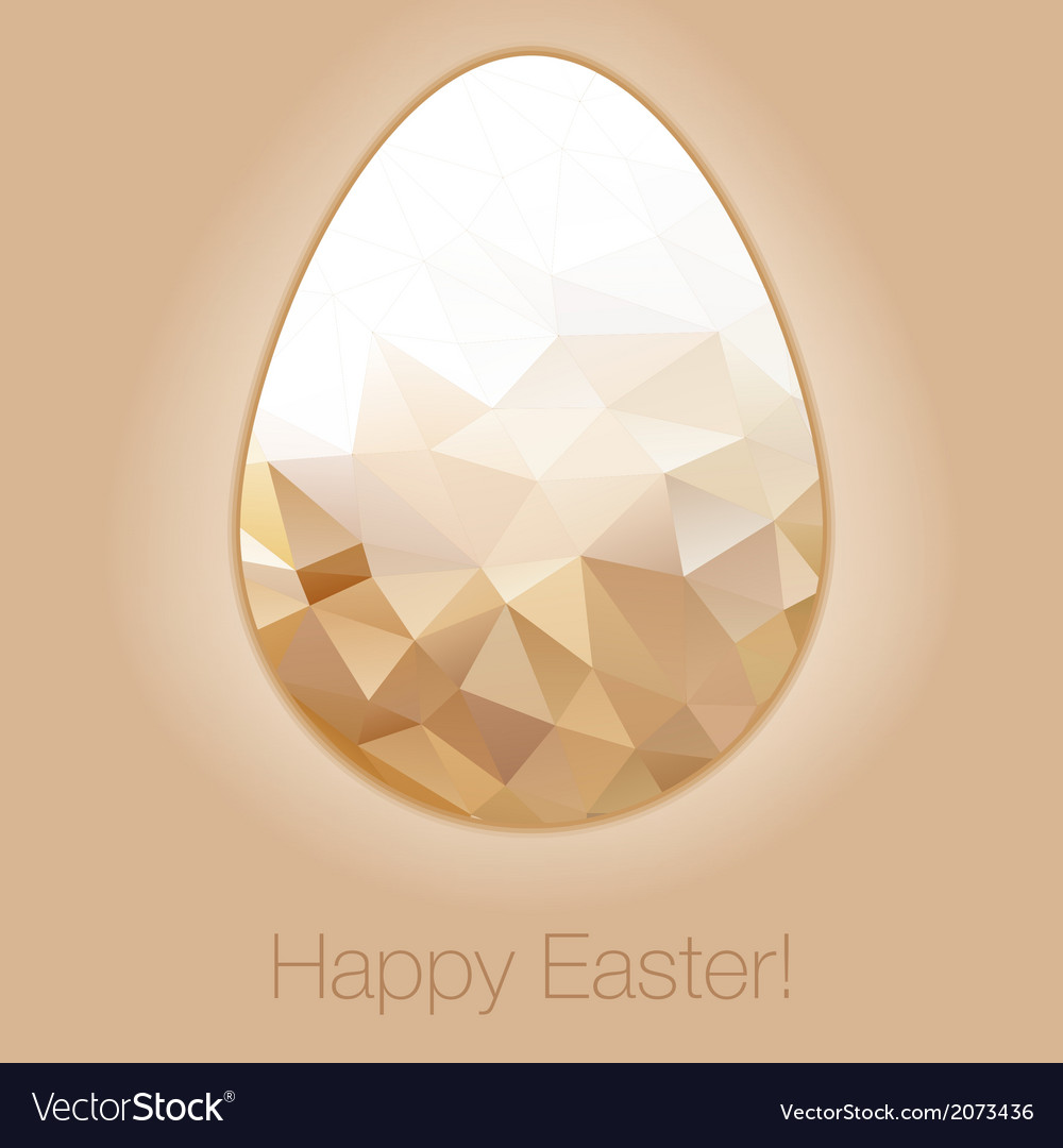 Easter egg in the style of crystal for easter vector | Price: 1 Credit (USD $1)