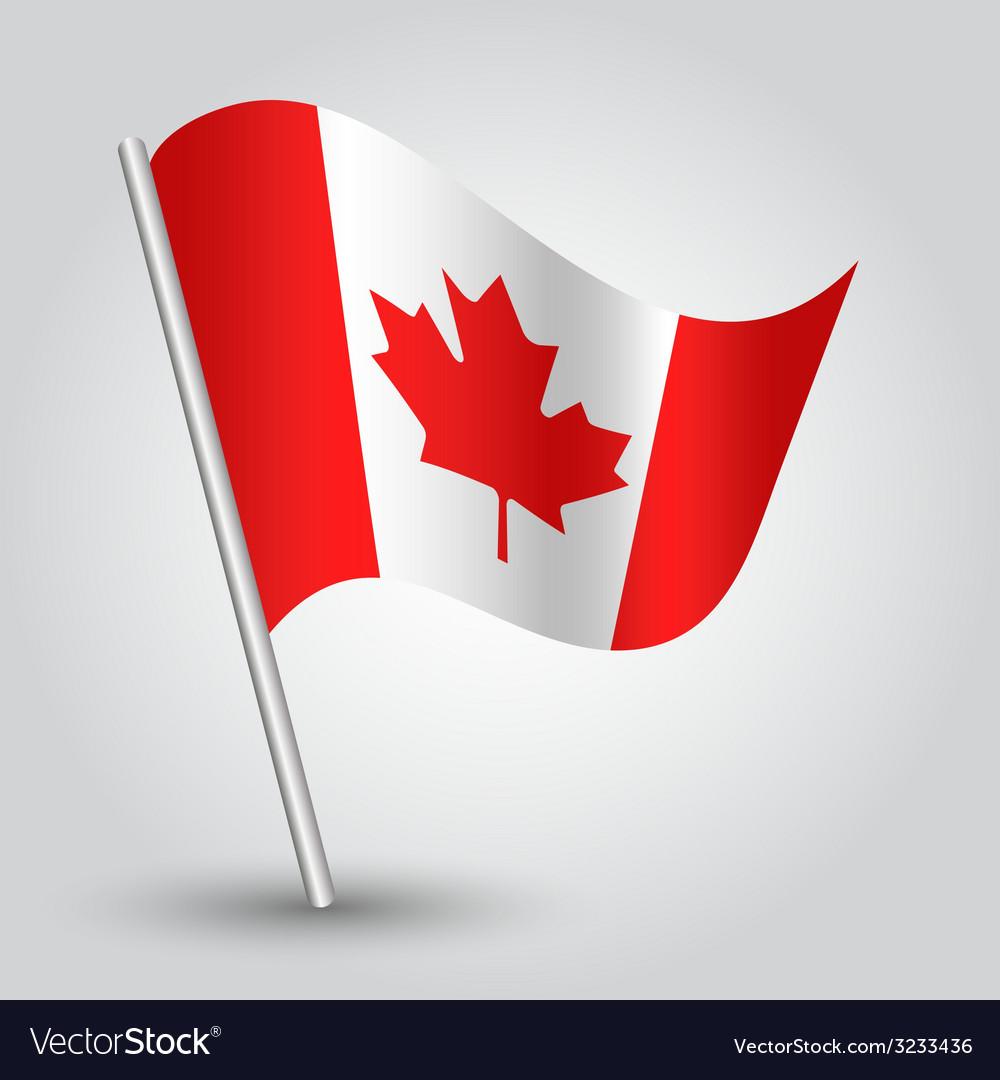 Flag canada vector | Price: 1 Credit (USD $1)