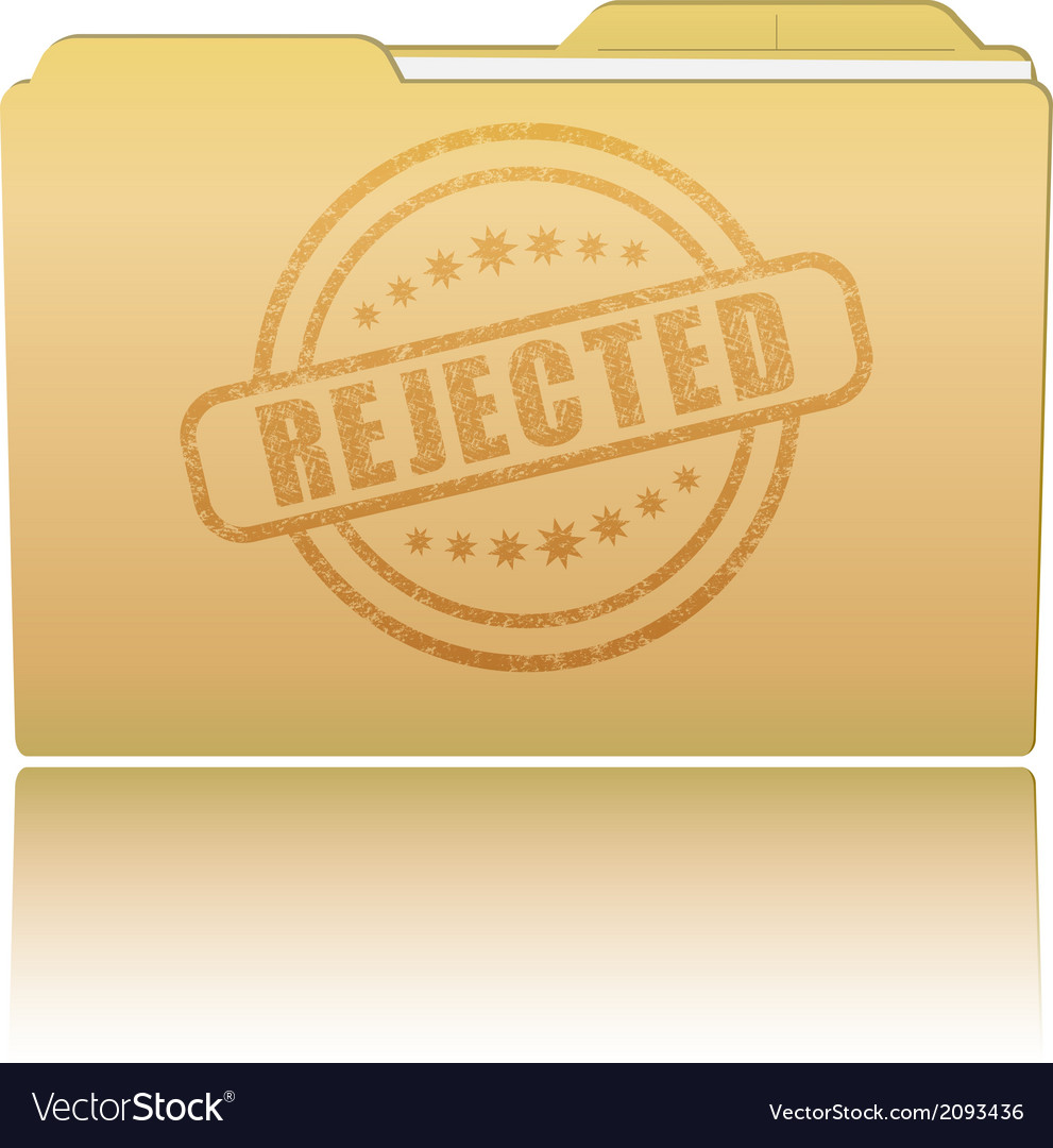 Folder with rejected damaged stamp vector | Price: 1 Credit (USD $1)