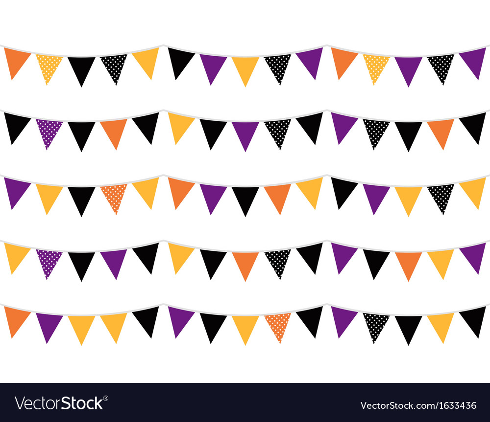 Halloween colorful bunting or flags vector | Price: 1 Credit (USD $1)