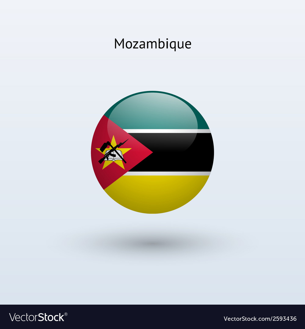 Mozambique round flag vector | Price: 1 Credit (USD $1)
