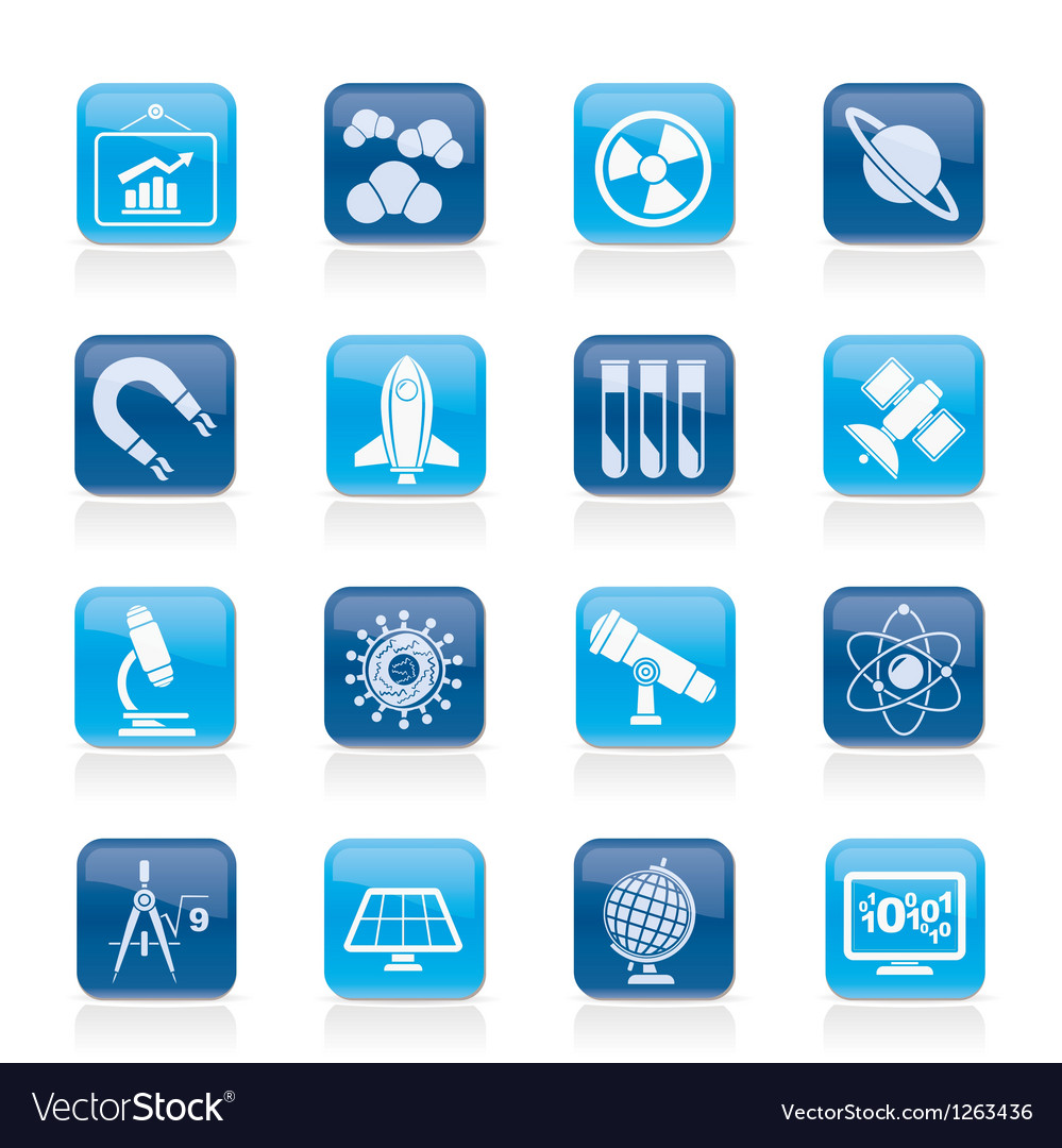 Research and education icons vector | Price: 1 Credit (USD $1)