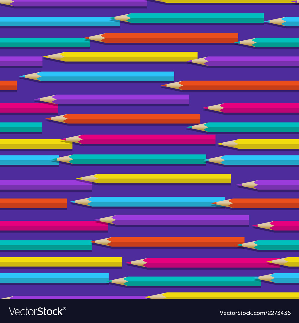 Seamless pattern with color pencils vector | Price: 1 Credit (USD $1)