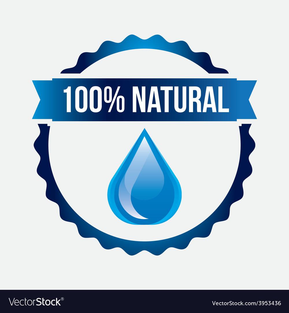 Water label vector | Price: 1 Credit (USD $1)