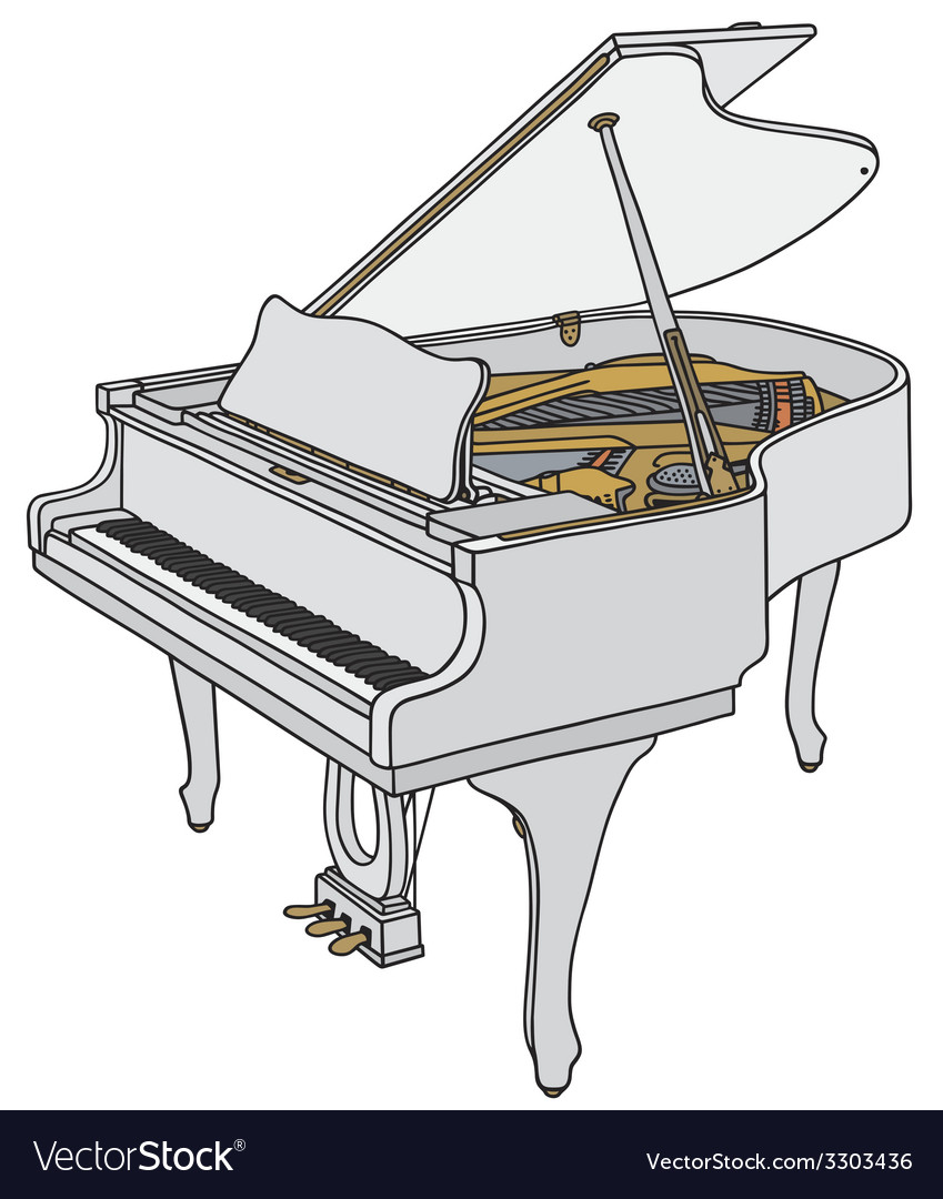 White piano vector | Price: 1 Credit (USD $1)