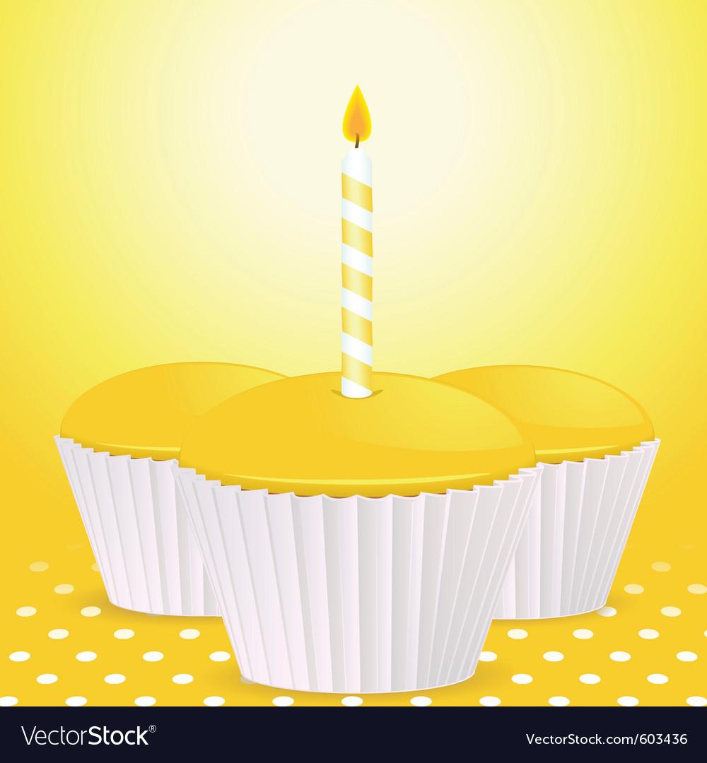 Yellow cupcakes vector | Price: 1 Credit (USD $1)