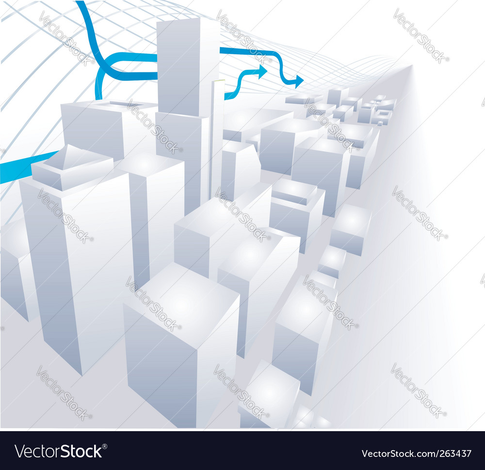 3d city conceptual abstract background vector | Price: 1 Credit (USD $1)