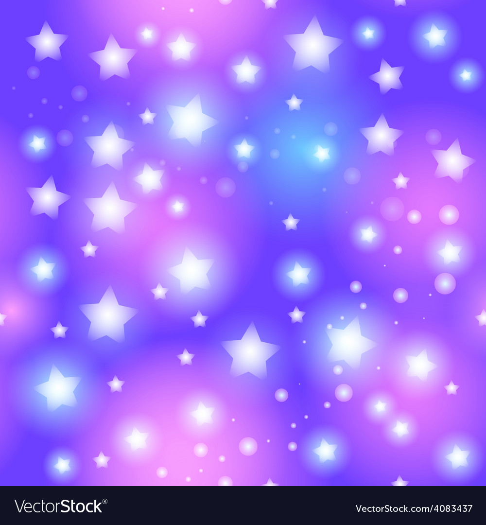 Abstract seamless pattern with star on blue vector | Price: 1 Credit (USD $1)