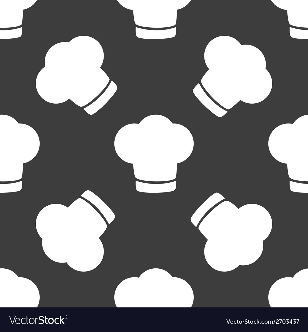 Chef cap web icon flat design seamless gray vector | Price: 1 Credit (USD $1)