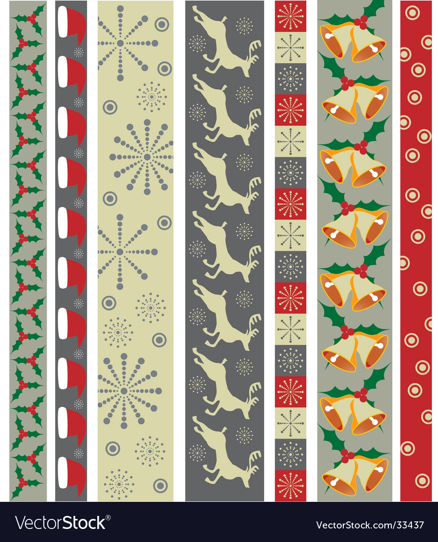 Christmas design border vector | Price: 1 Credit (USD $1)