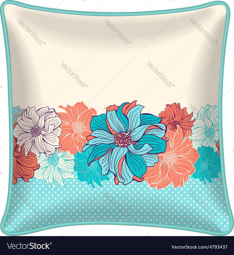 Decorative throw pillow vector | Price: 1 Credit (USD $1)