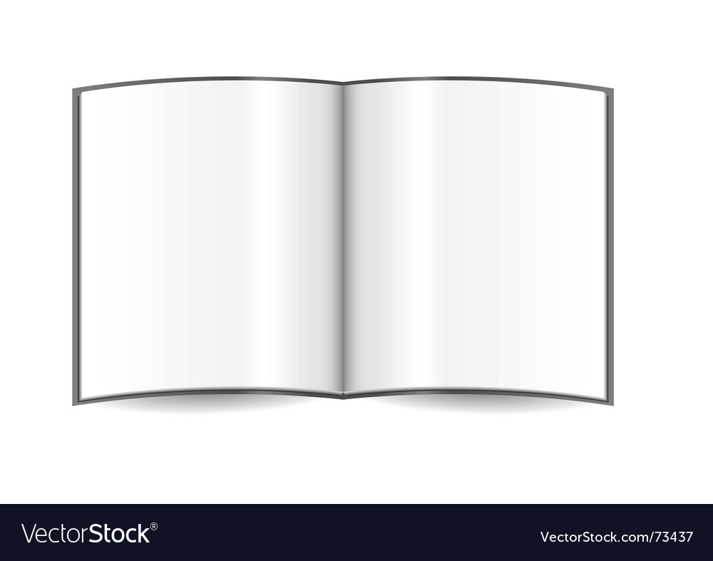 Open book template vector | Price: 1 Credit (USD $1)