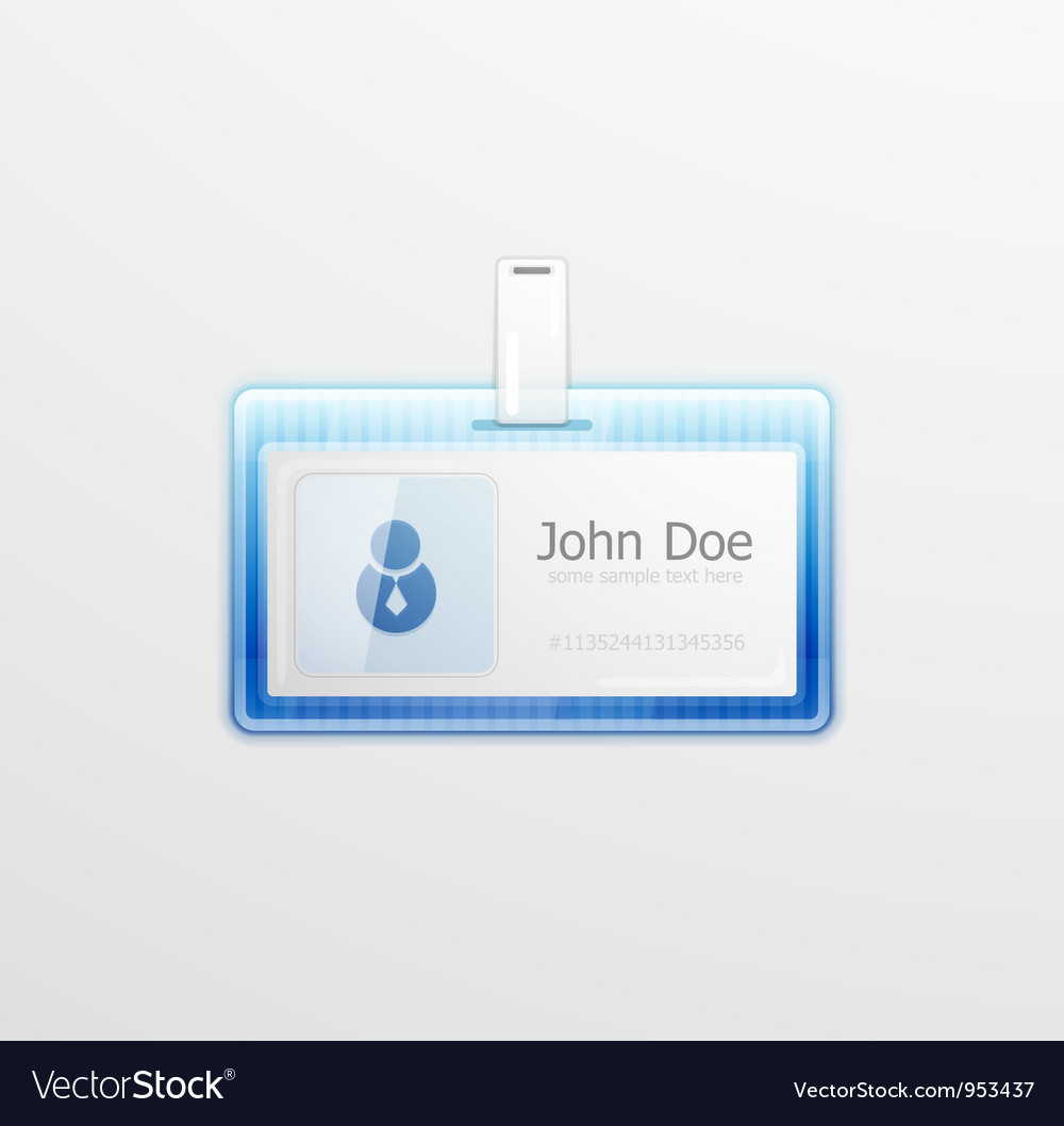 Personal id badge vector | Price: 1 Credit (USD $1)