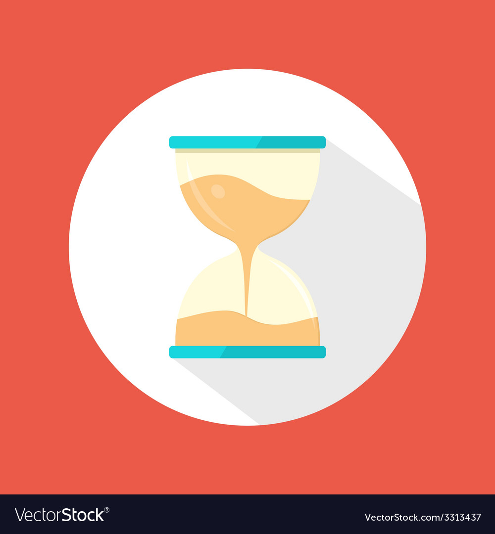 Sand clock icon vector | Price: 1 Credit (USD $1)