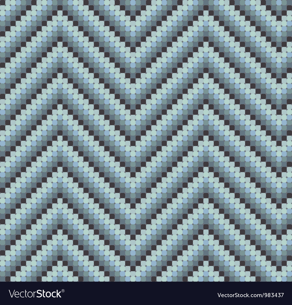 Seamless 60s retro zigzag pattern cool vector   Price: 1 Credit (USD $1)