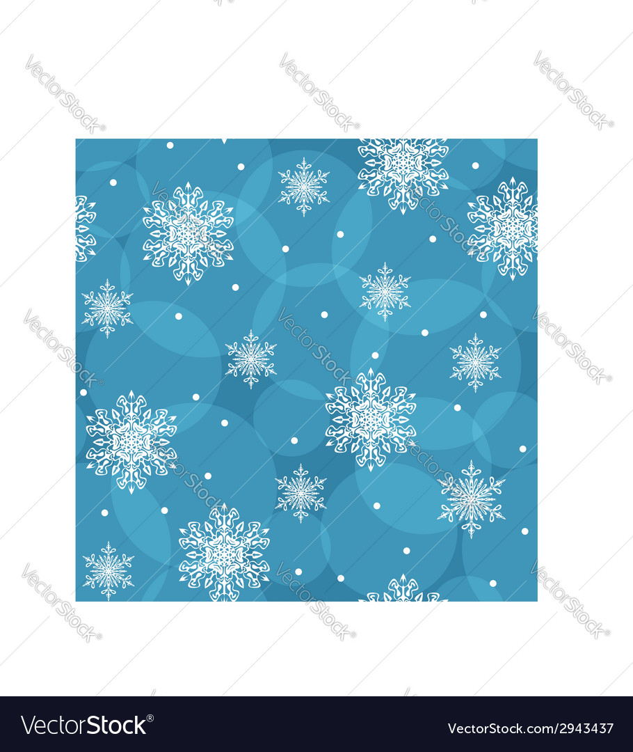 Seamless background with snowflakes eps10 vector | Price: 1 Credit (USD $1)