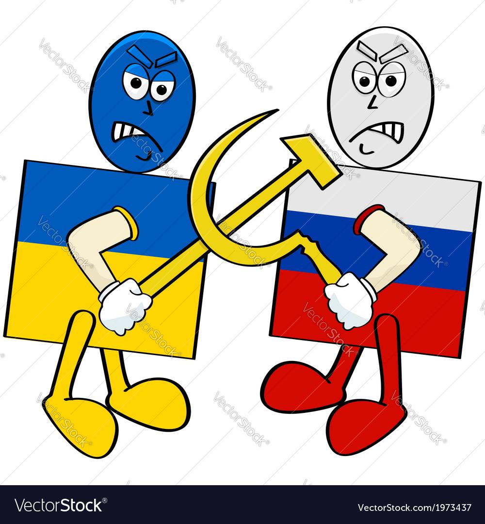 Ukraine versus russia vector | Price: 1 Credit (USD $1)