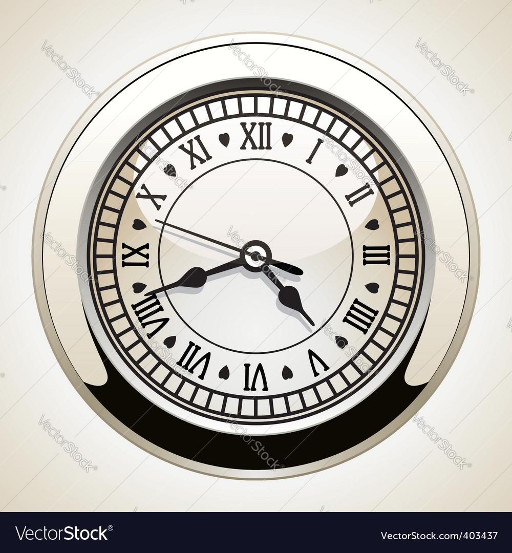 Vintage clock vector | Price: 1 Credit (USD $1)