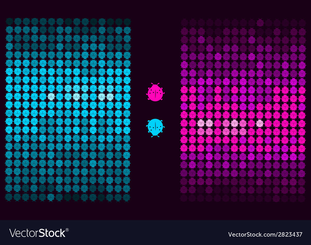 Vinyl record in the envelope colorful background vector | Price: 1 Credit (USD $1)