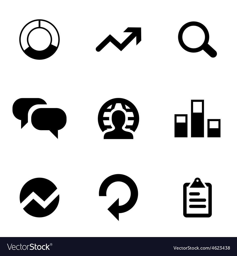 Analytics 9 icons set vector | Price: 1 Credit (USD $1)