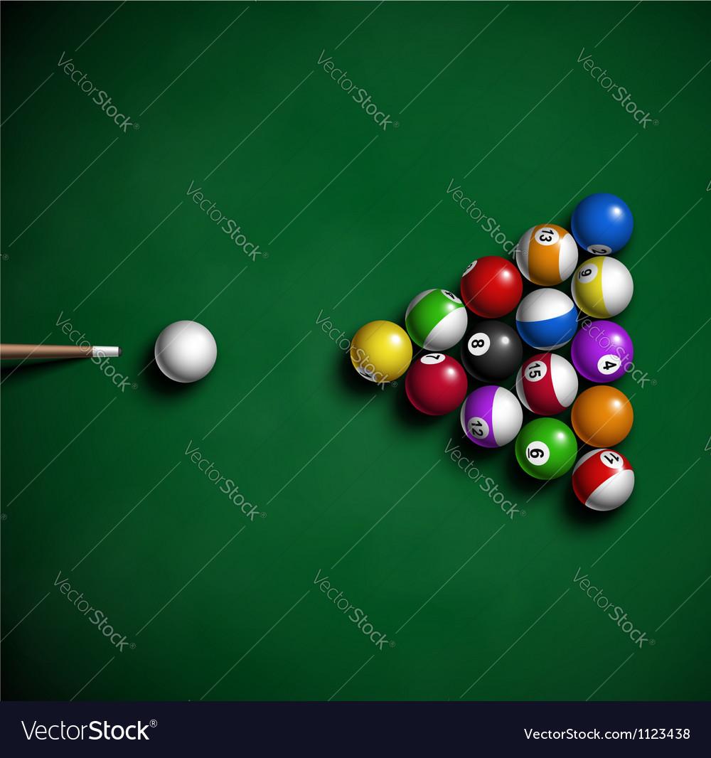 Billiard balls vector | Price: 1 Credit (USD $1)