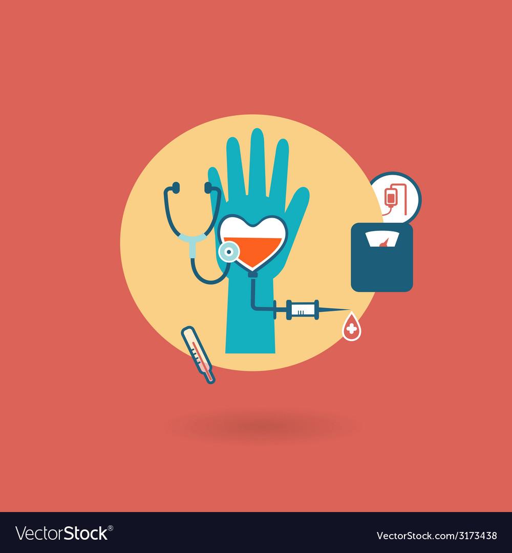 Criteria of health weight pressure pulse donor vector | Price: 1 Credit (USD $1)