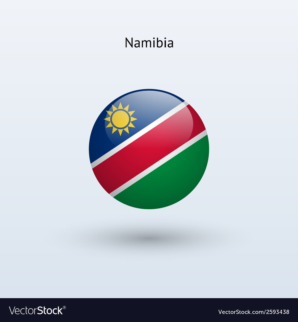 Namibia round flag vector | Price: 1 Credit (USD $1)