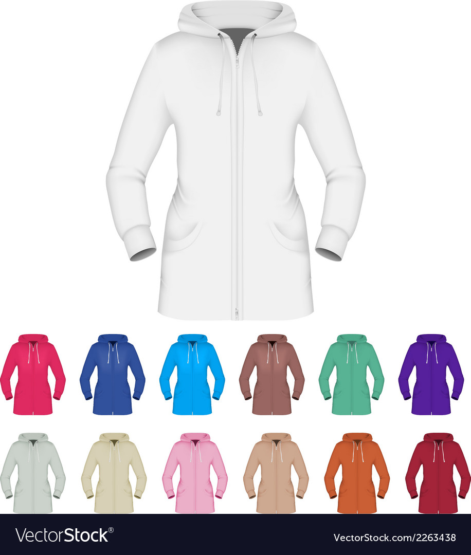 Plain hooded jacket template vector | Price: 1 Credit (USD $1)