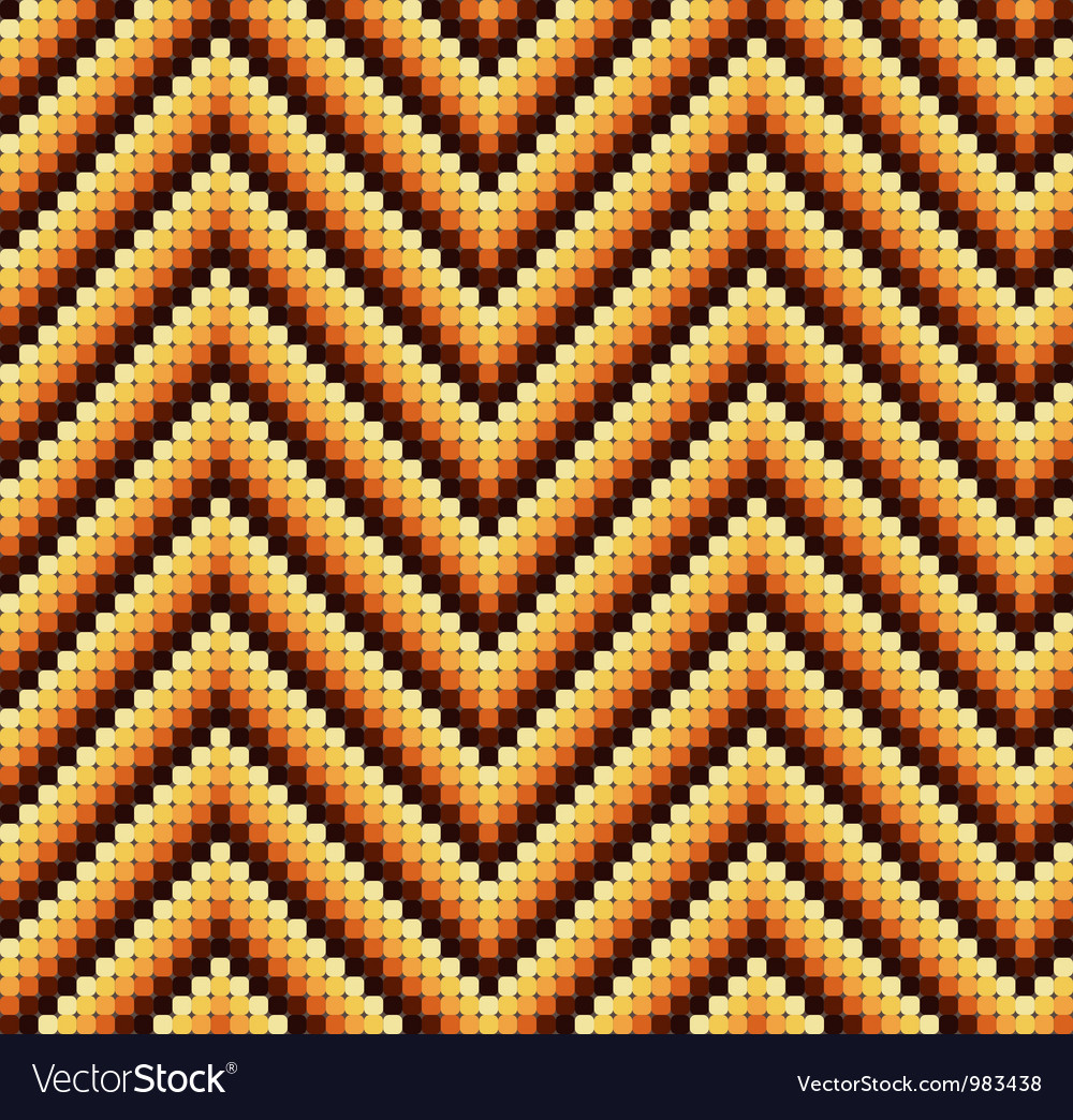 Seamless 60s retro zigzag pattern warm vector | Price: 1 Credit (USD $1)