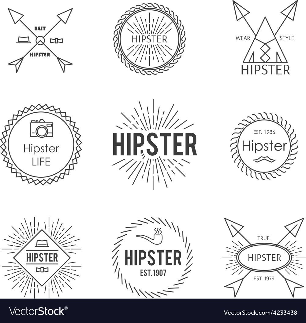 Set of emblem vector | Price: 1 Credit (USD $1)