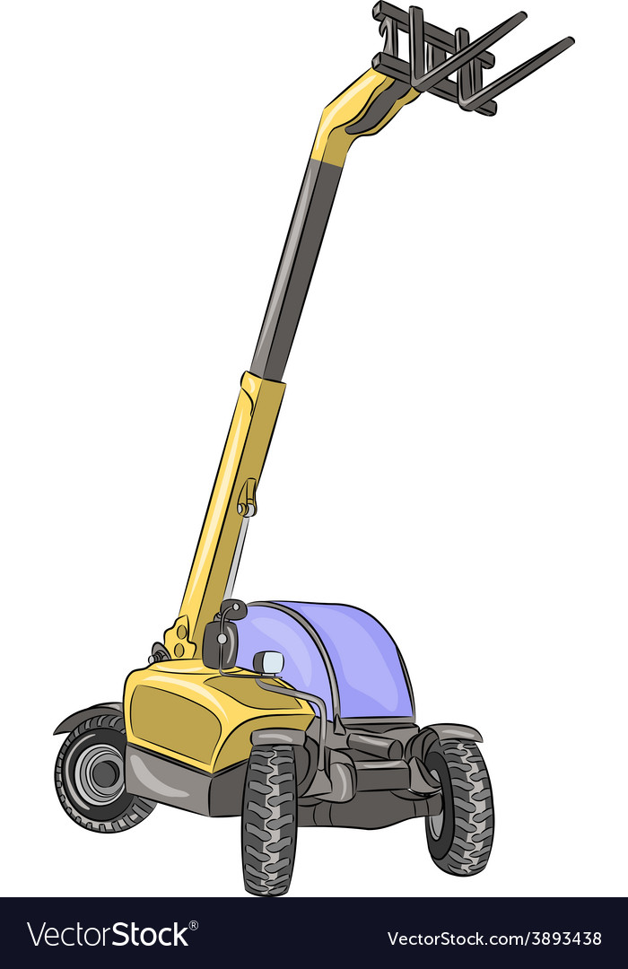 Telescopic loader a vector | Price: 1 Credit (USD $1)