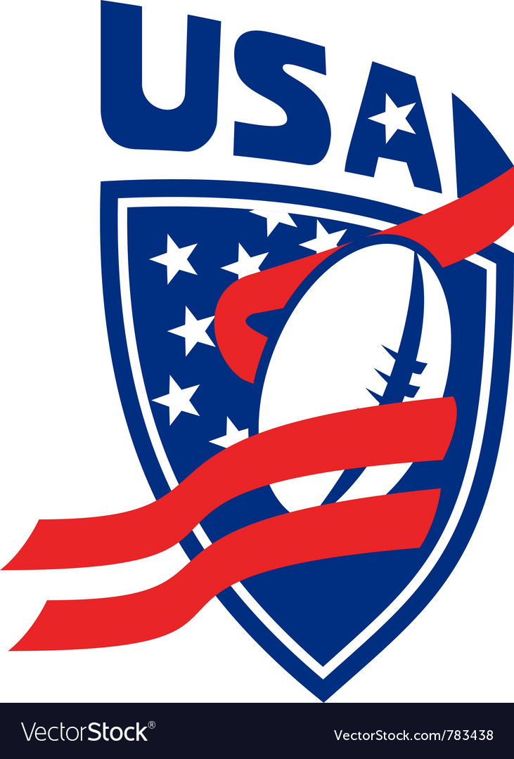 Usa rugby shield vector | Price: 1 Credit (USD $1)