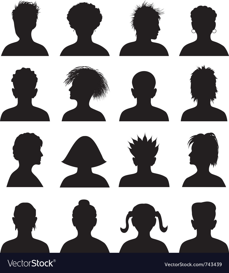 16 anonymous mugshots vector | Price: 1 Credit (USD $1)