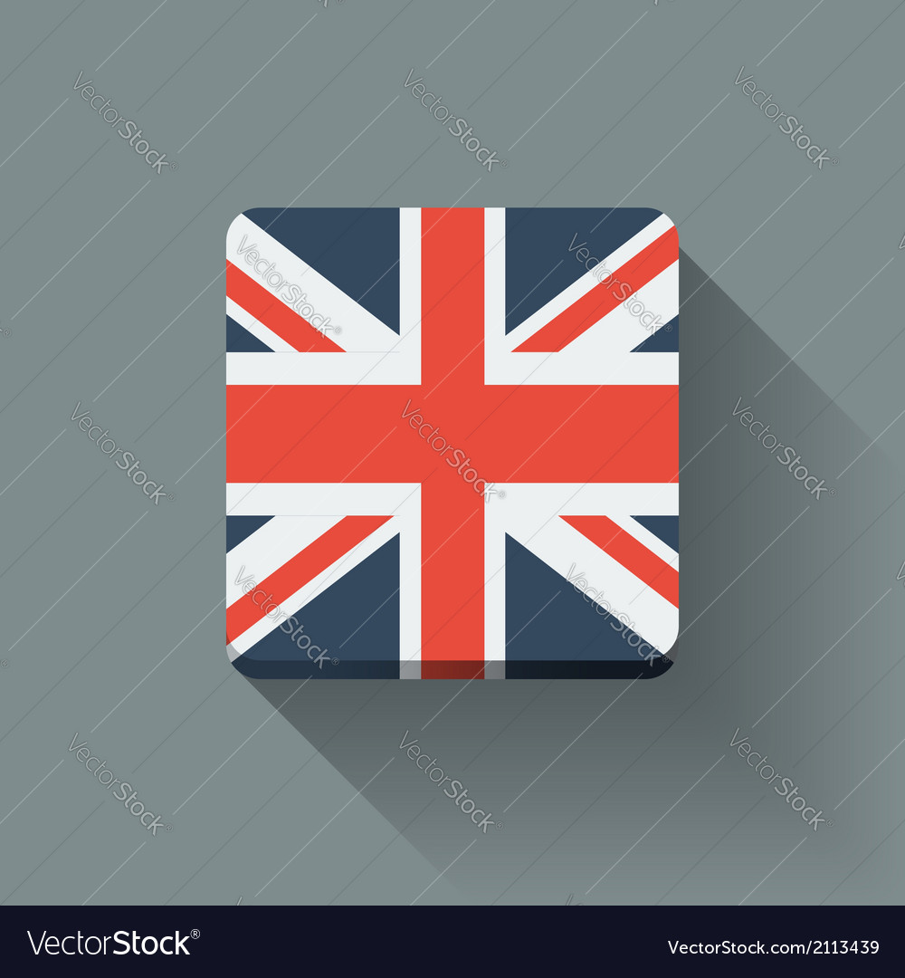 Button with flag of the uk vector | Price: 1 Credit (USD $1)