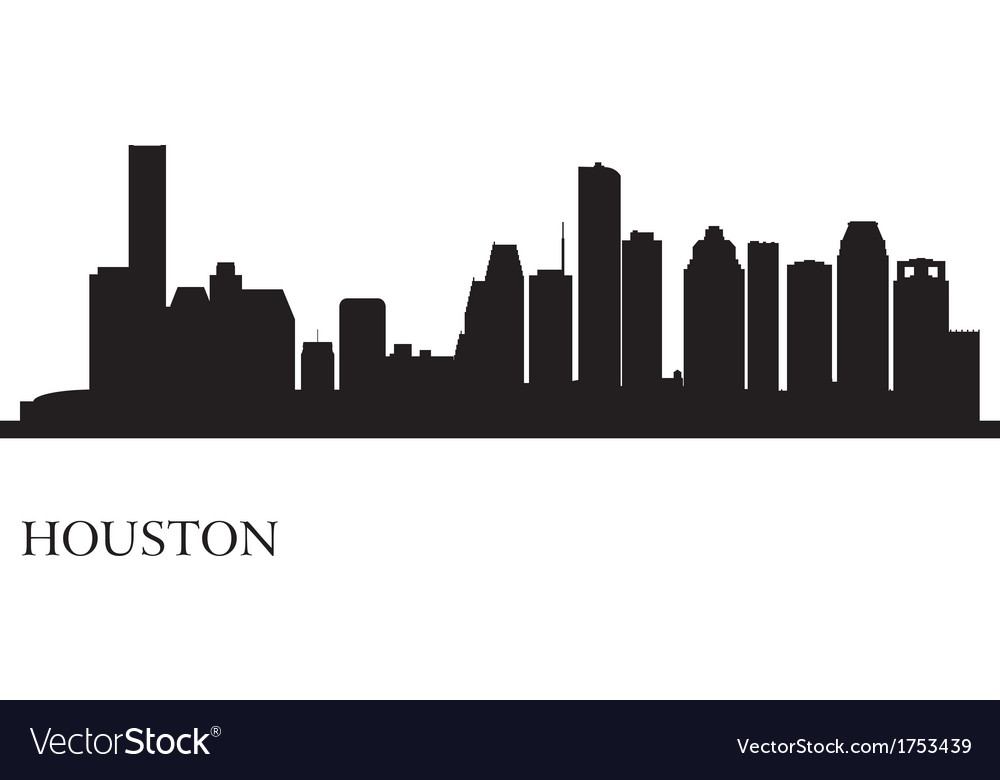 Houston city skyline silhouette background vector | Price: 1 Credit (USD $1)