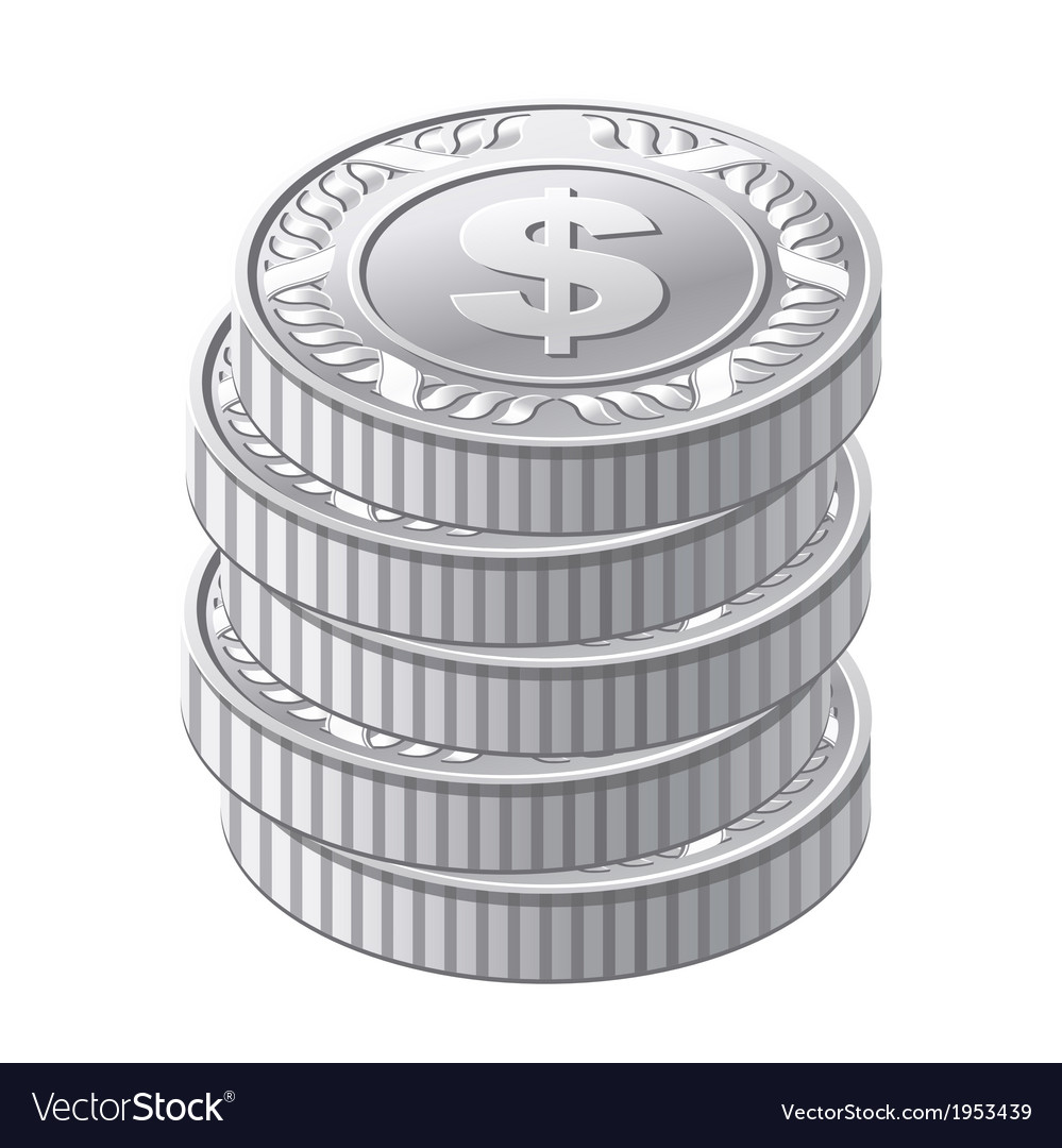 Silver coins vector | Price: 1 Credit (USD $1)