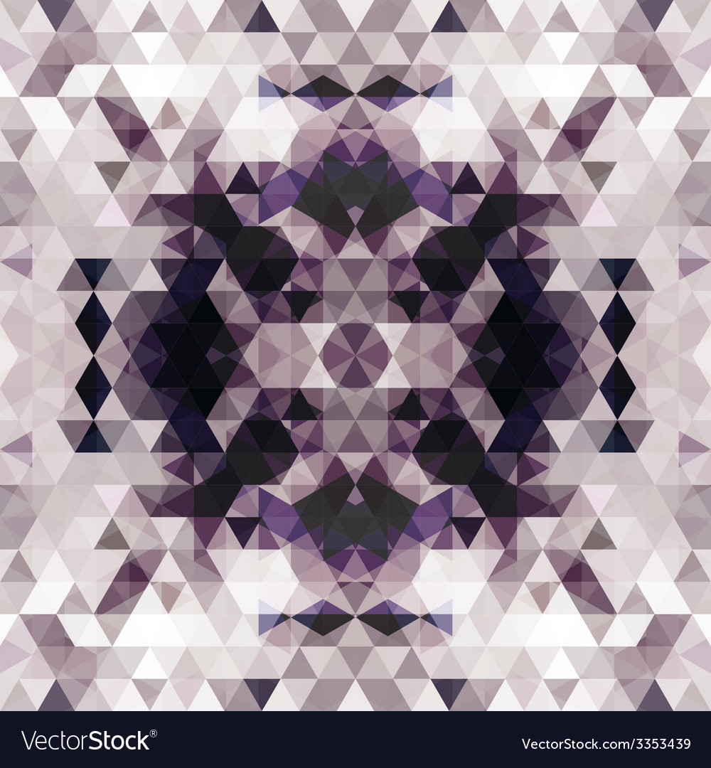 Triangular mosaic purple background vector | Price: 1 Credit (USD $1)