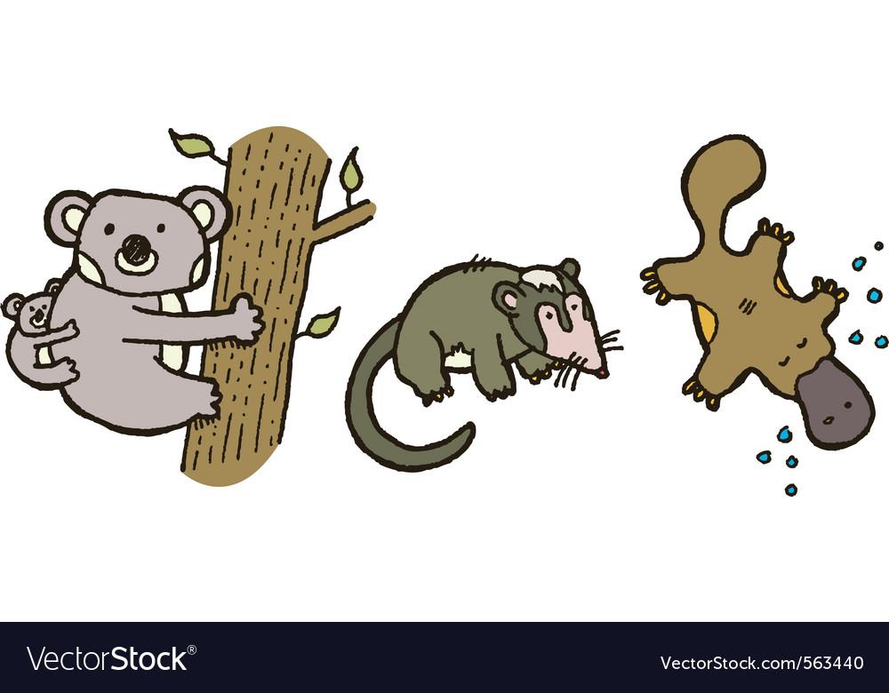 Australian animals vector | Price: 1 Credit (USD $1)