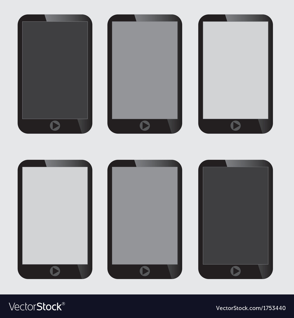 Blank screen smart phone vector | Price: 1 Credit (USD $1)