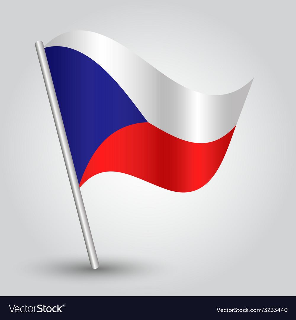 Flag czech republic vector | Price: 1 Credit (USD $1)