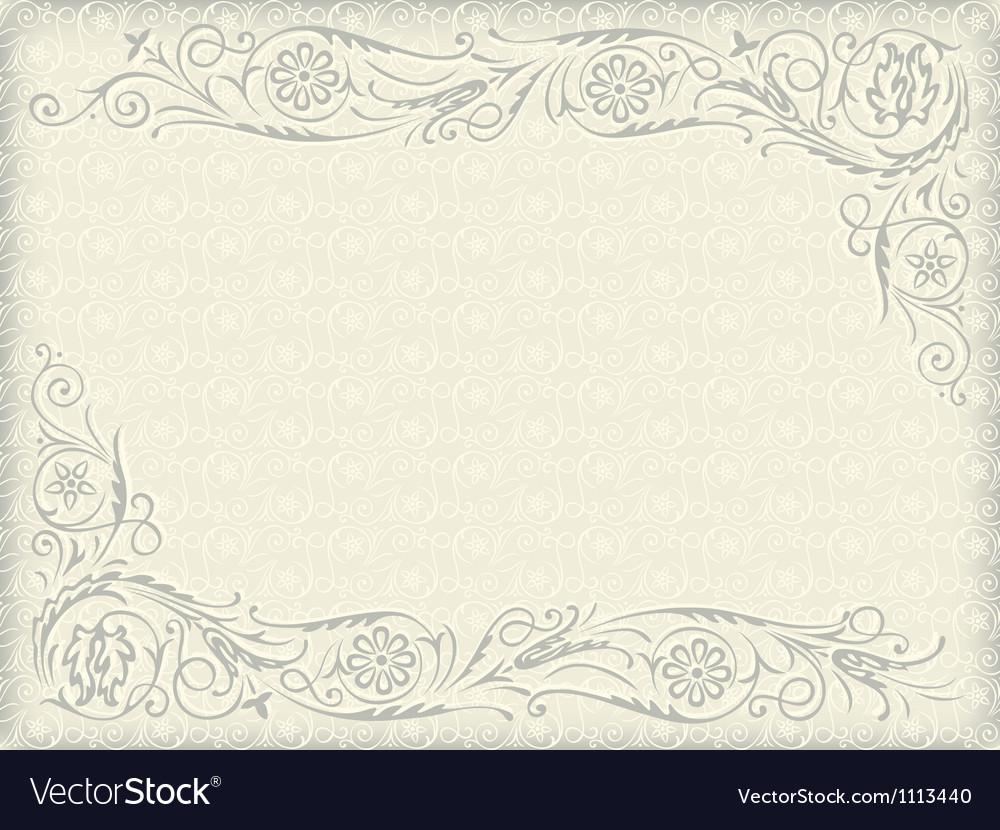 Floral wedding background vector | Price: 1 Credit (USD $1)