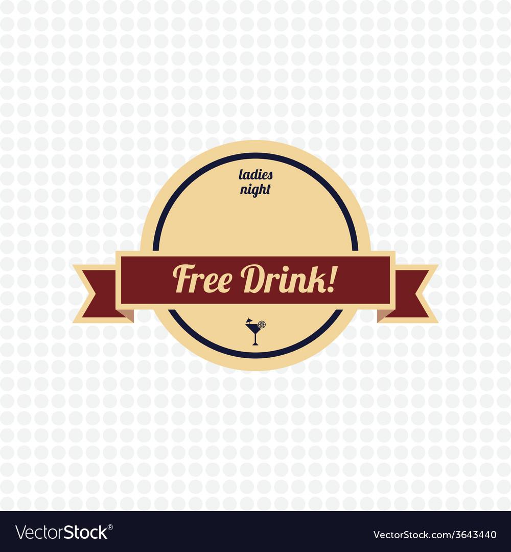 Free drink label vector   Price: 1 Credit (USD $1)