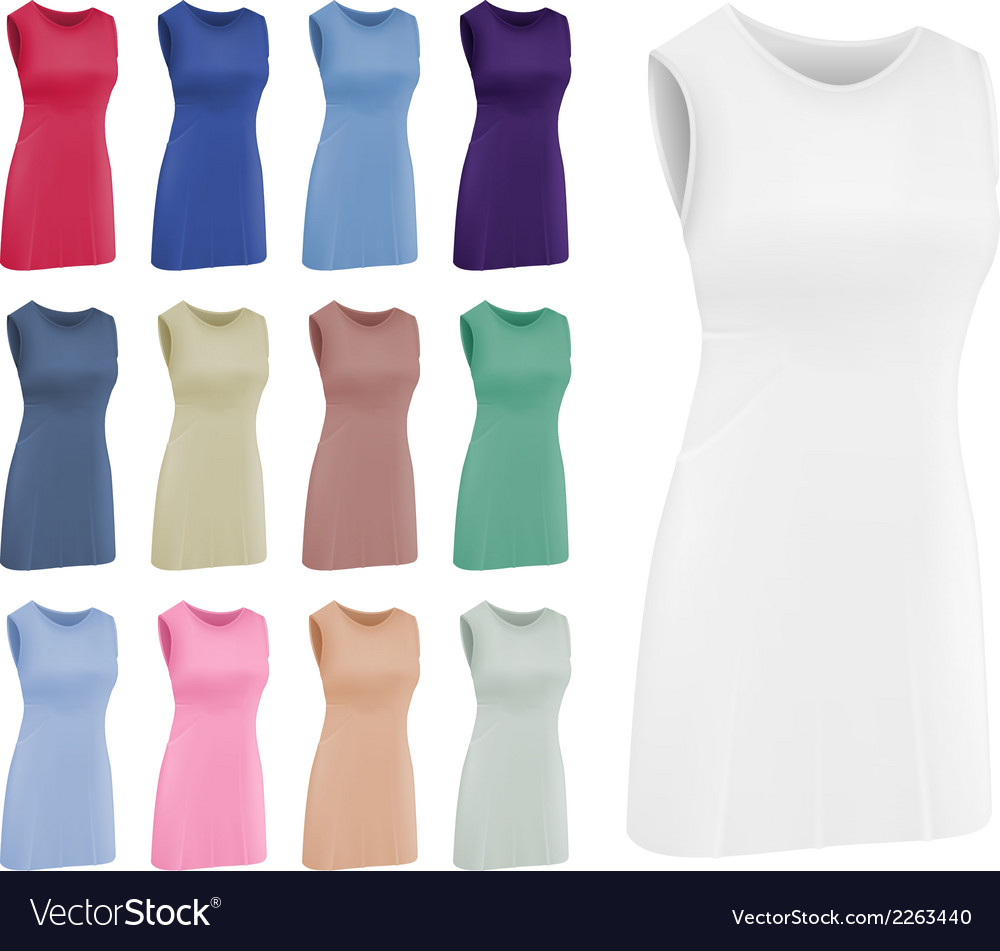 Plain women netball dress template vector | Price: 1 Credit (USD $1)