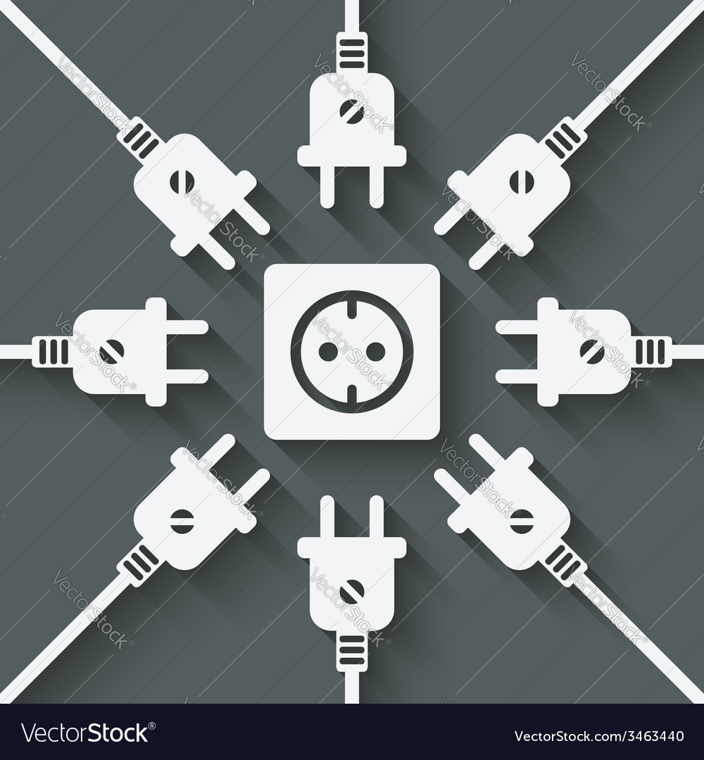 Plugs around outlet vector   Price: 1 Credit (USD $1)